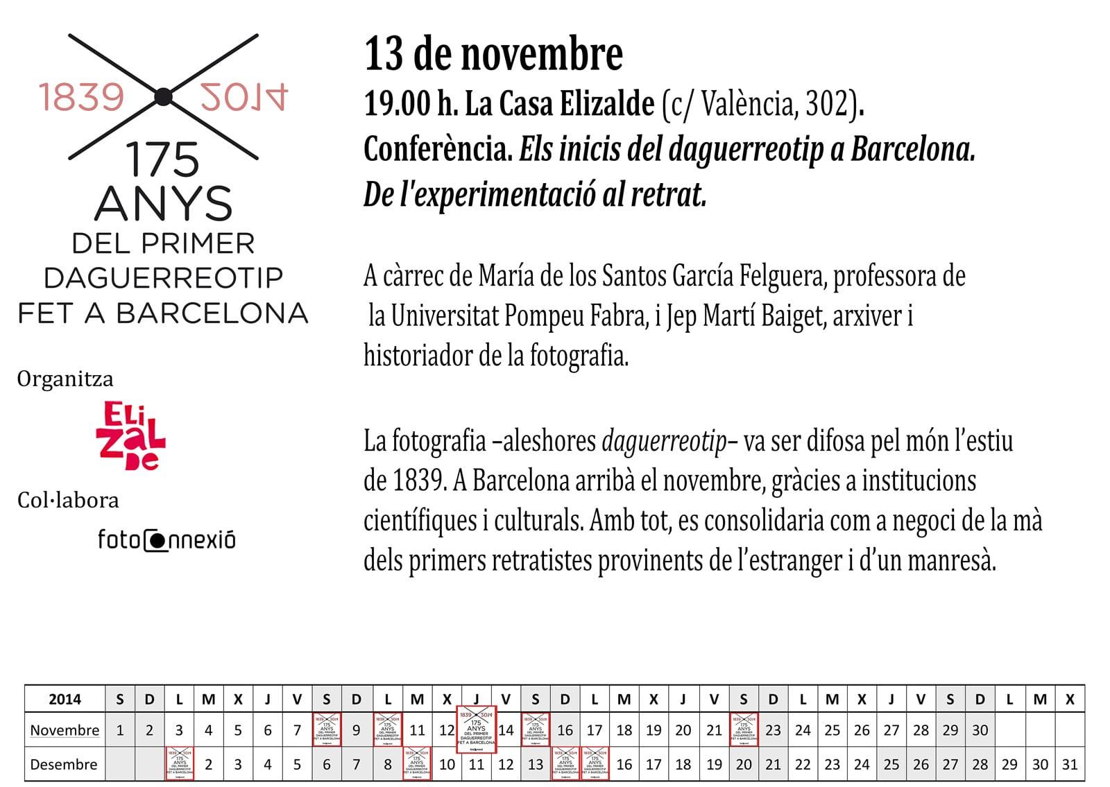 """Conferència """"Els inicis del daguerreotip a Barcelona. De l'experimentació al retrat"""" a càrrec de María de los Santos García Felguera i Jep Marti i Baiget"""
