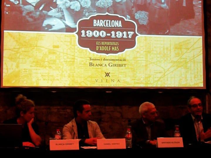 """Presentació del llibre """"Barcelona 1900-1917. Reportatges d'Adolf Mas"""", el 10/11/2014 al MUHBA"""