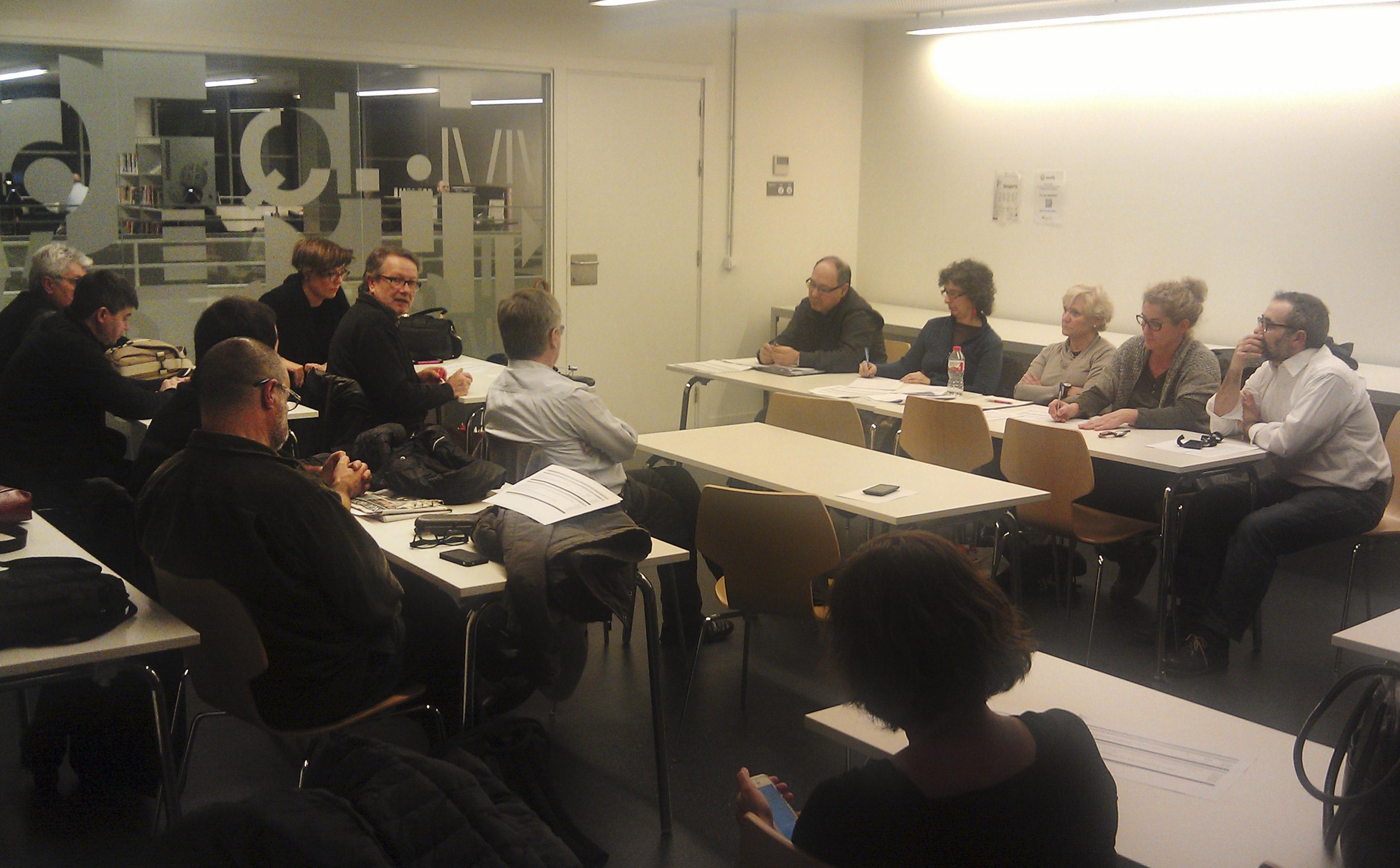 Assemblea General de Socis de Fotoconnexió. Biblioteca Esquerra de l'Eixample – Agustí Centelles 19/01/2015