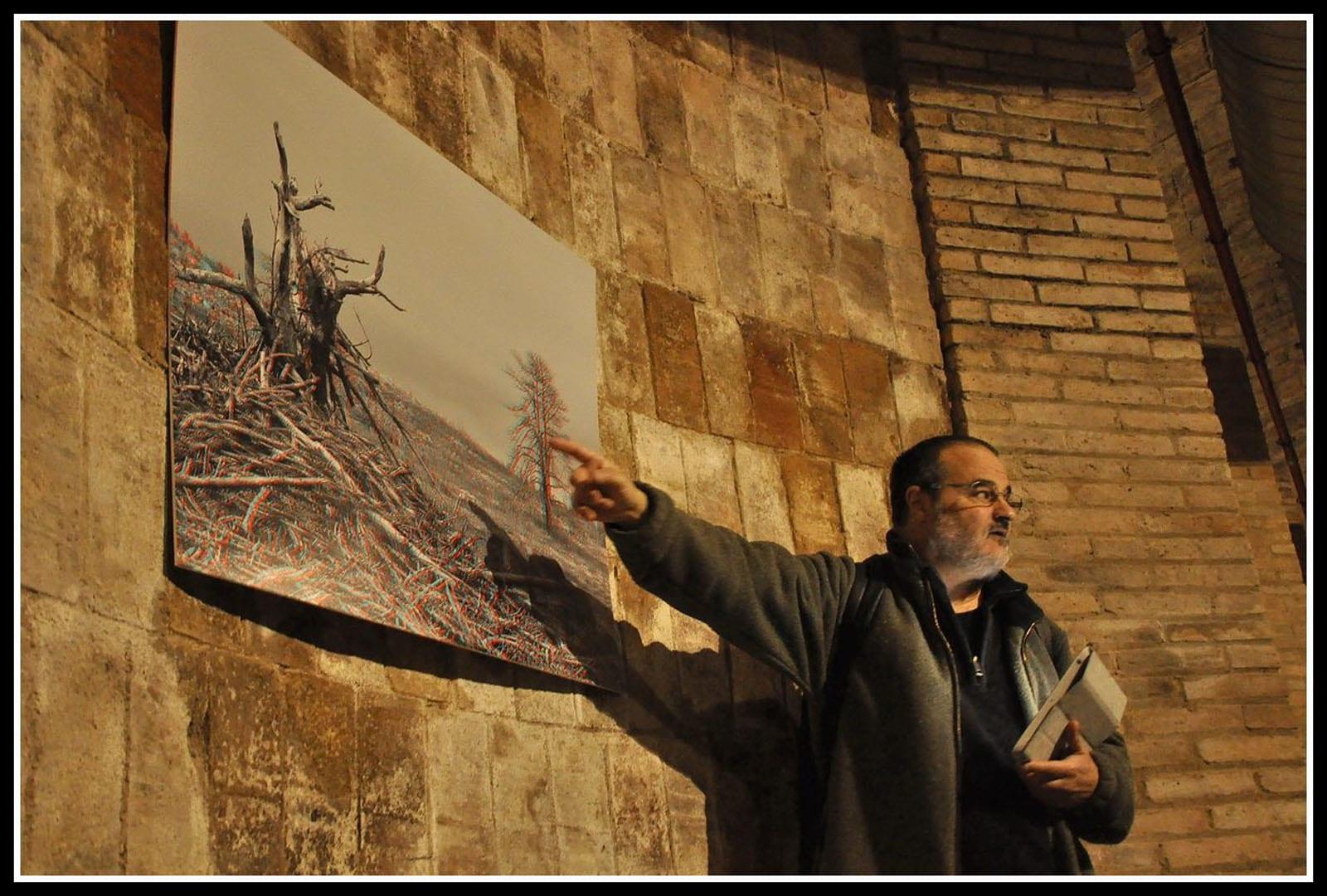 Visita guiada a l'exposició Paisatges de l'ànima de Miquel Planchart. 21/02/2015 Celler de Rubí
