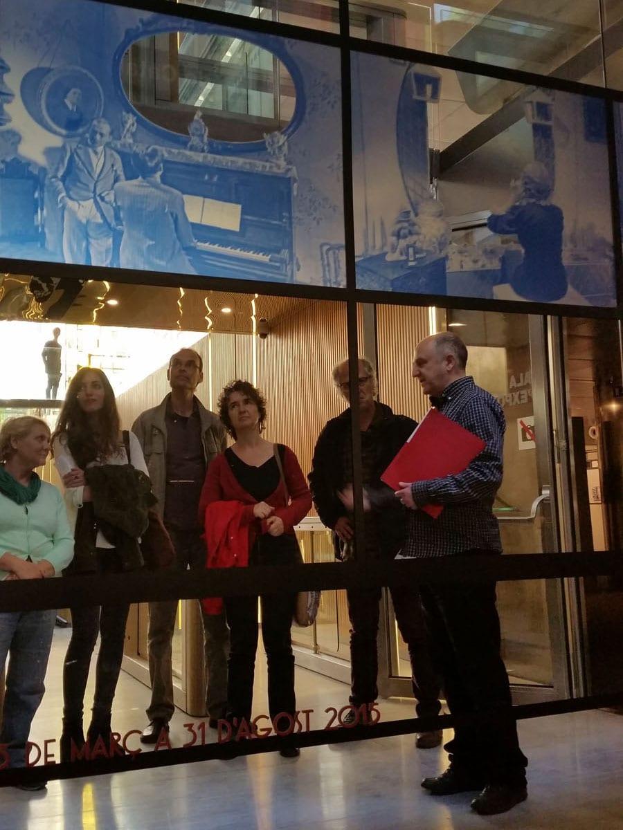 Visita a l'Exposició República, Guerra, Dictadura: Foto fixa Sabaté de la Filmoteca de Catalunya. 30/4/2015