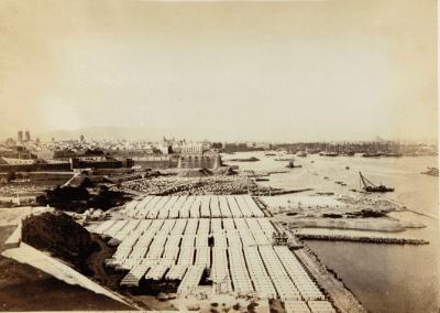Vista de Barcelona des de Montjuïc foto Laurent cap 1860