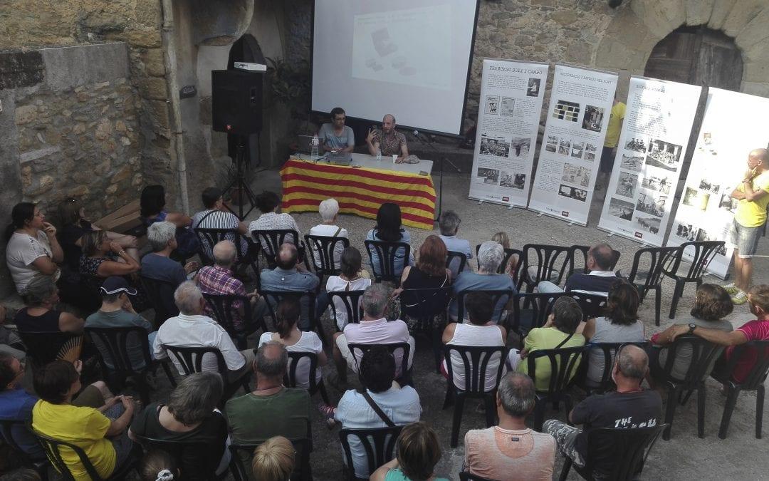 Imatges de la xerrada i exposició 'Els primers trets de Francesc Boix' a Santa Maria de Meià. 09/08/2018.