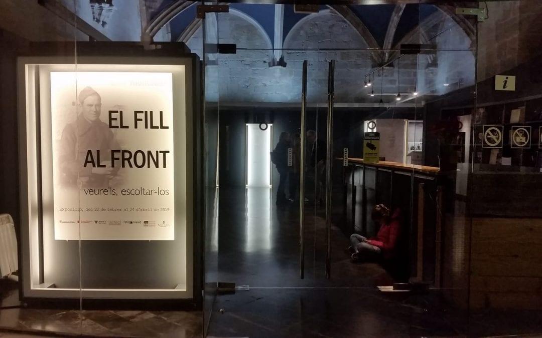 Inauguració de l'exposició 'El fill al front' a Lleida. 22/02/2019