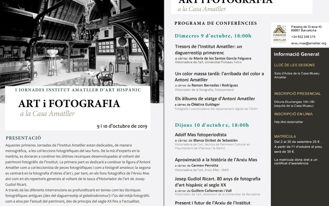 I Jornades Institut Amatller d'Art Hispànic (Barcelona)