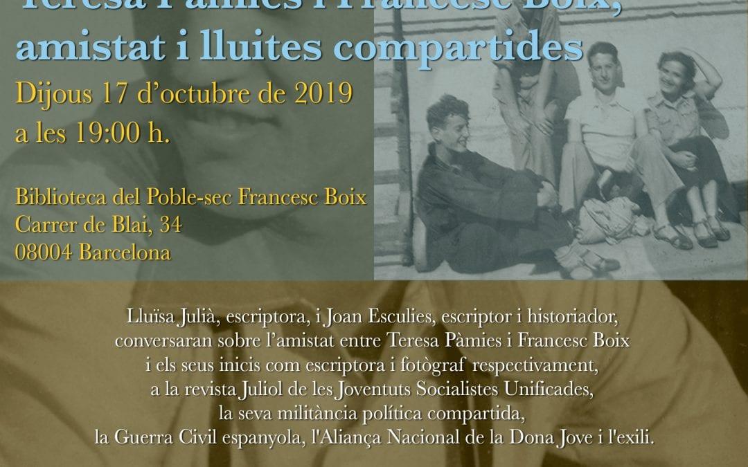"""Taula Rodona """"Teresa Pàmies i Francesc Boix, amistat i lluites compartides"""""""
