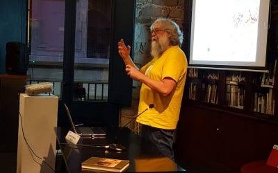 Fototertúlia Origen, autories i context de l'àlbum polític, caricaturesc i pornogràfic de Los Borbones en pelota a partir d'una sèrie de cartes de visite, a càrrec d'Albert Domènech