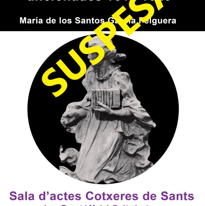 SUSPESA: Conferència Fotògrafes professionals i aficionades 1840-1920 a càrrec de María de los Santos García Felguera