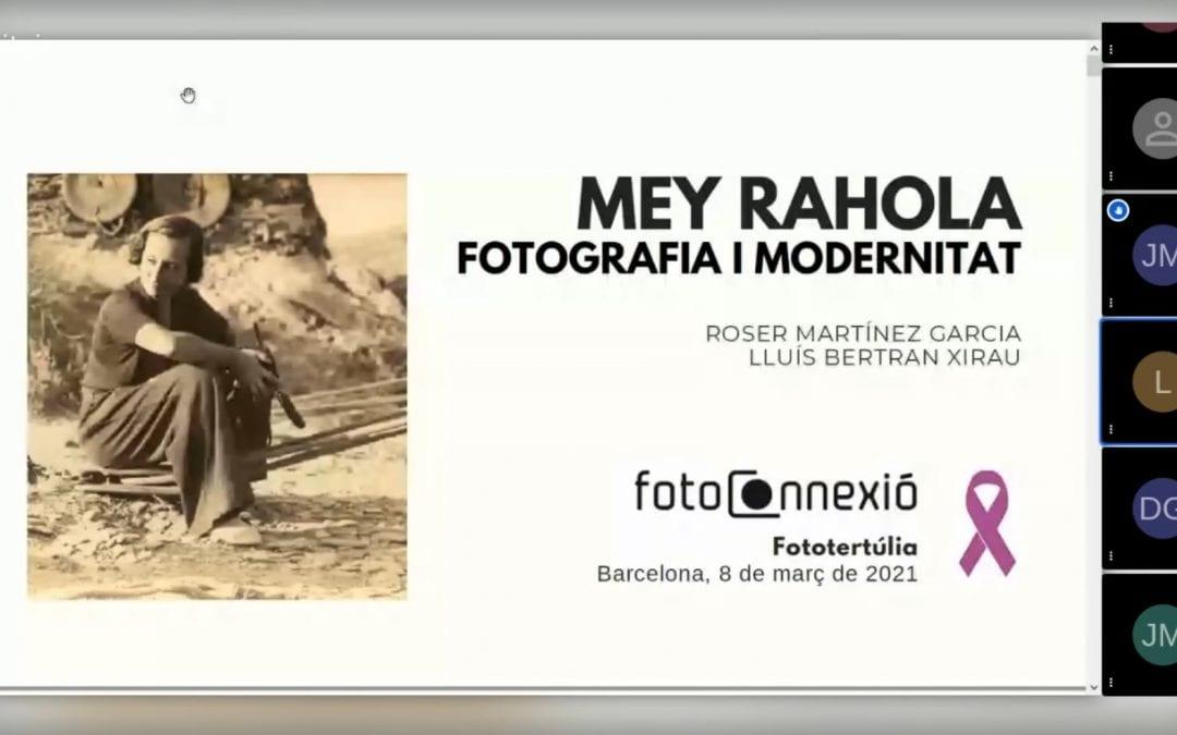 Fototertúlia Mey Rahola, fotografia i modernitat, a a càrrec de Roser Martínez Garcia i Lluís Bertran Xirau