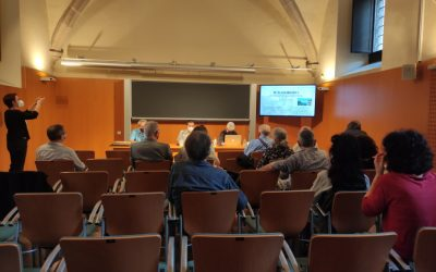 Conférences  Recréation historique des premières photographies de montagne en Catalogne , à l'Institut d'Estudis Catalans